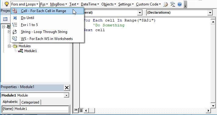 automacro-vba code generator