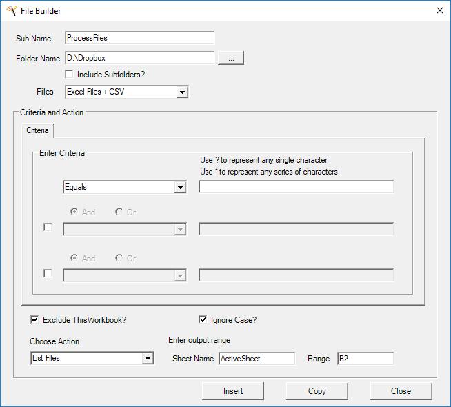 vba file creator