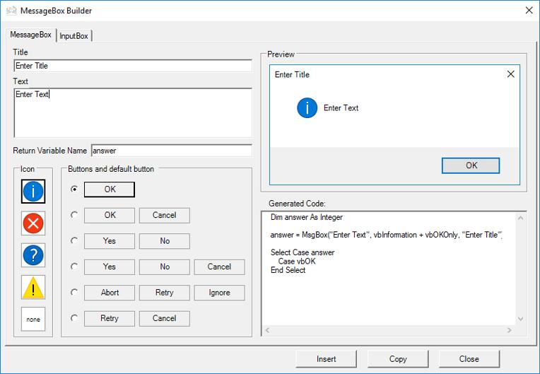 vba write messagebox code