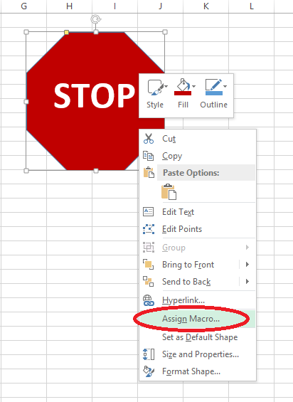 assign macro to a shape