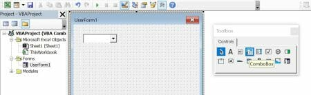 vba combobox insert in userform