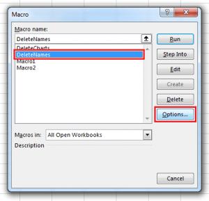 RunMacro - 5 - Macro List Options
