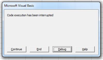 RunMacro - Interrupted