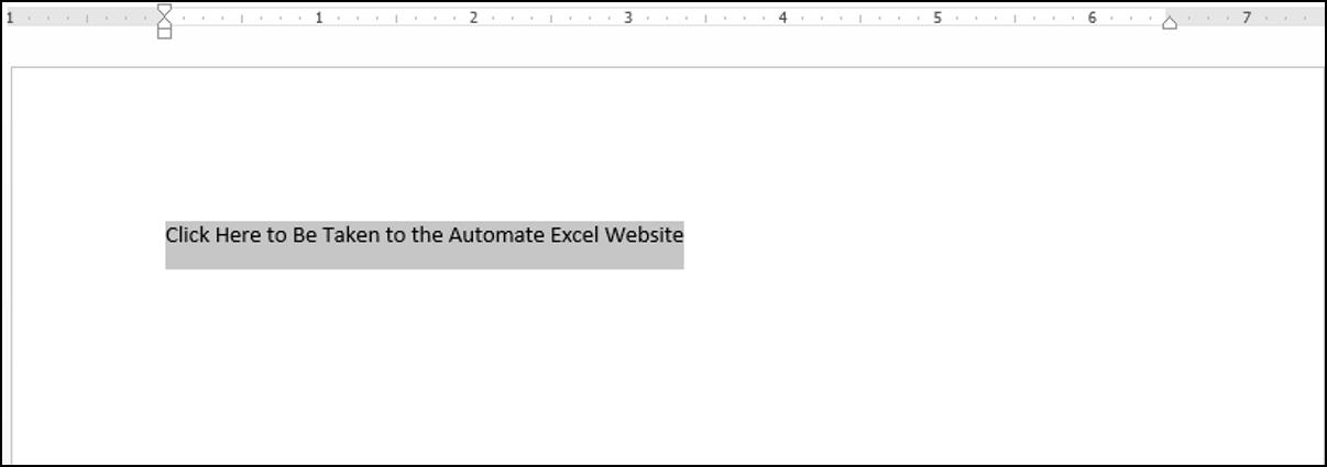 Adding a Hyperlink using VBA in Word
