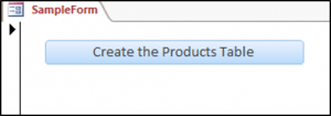 Create the Products Table in Access