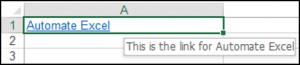 Add a ScreenTip to the Hyperlink Using VBA