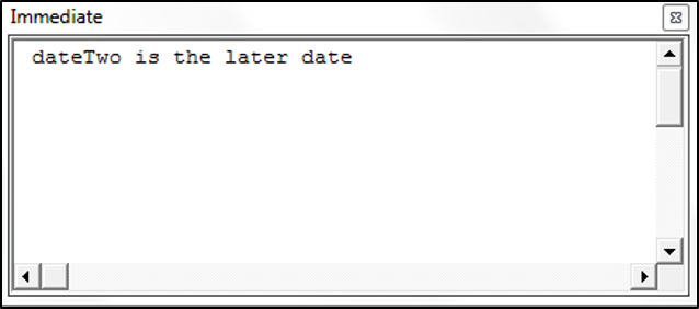 Comparing Dates in VBA