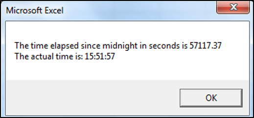 Getting the Actual Time in VBA