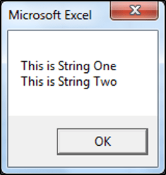 Using vbCR to insert a new line in VBA