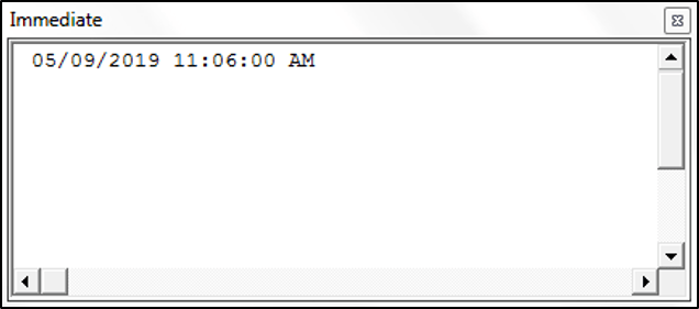 Using the Now Function in VBA