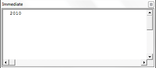 Using The Year Function in VBA