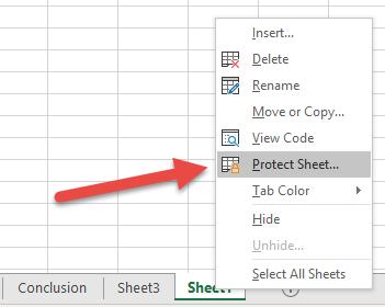 vba protect sheet