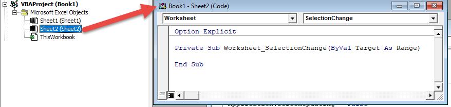 vba worksheet module