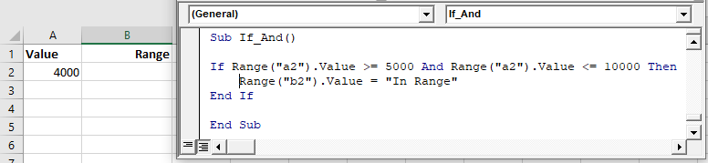 vba if and