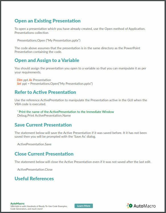 vba powerpoint tutorial pdf