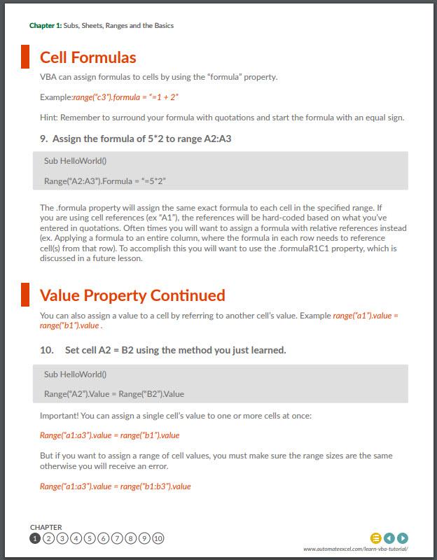 vba tutorial pdf