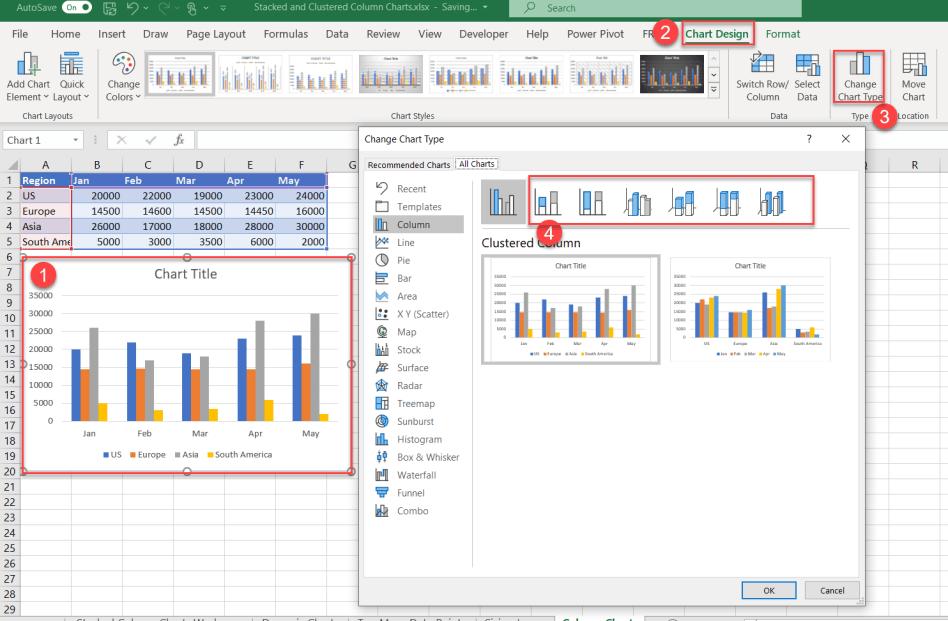 Change Chart Type Options