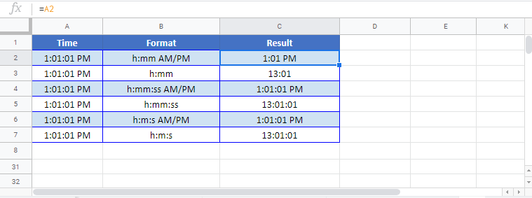 Change Date Format in Google Sheets All of the above examples work exactly the same in Google Sheets as in Excel.