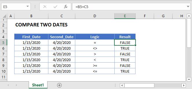 Compare Two Dates Main
