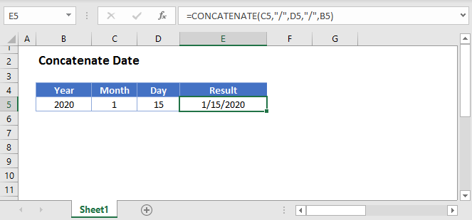 Concatenate Date Main