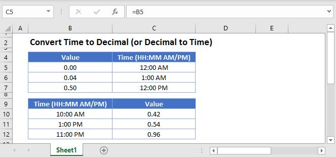Convert Time to Decimal Main