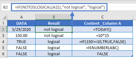 IF NOT ISLOGICAL