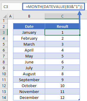 Month Name to Number