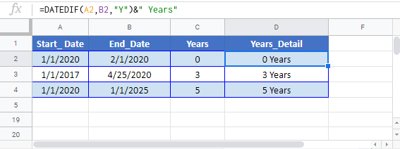 Number of Years Between Dates Google