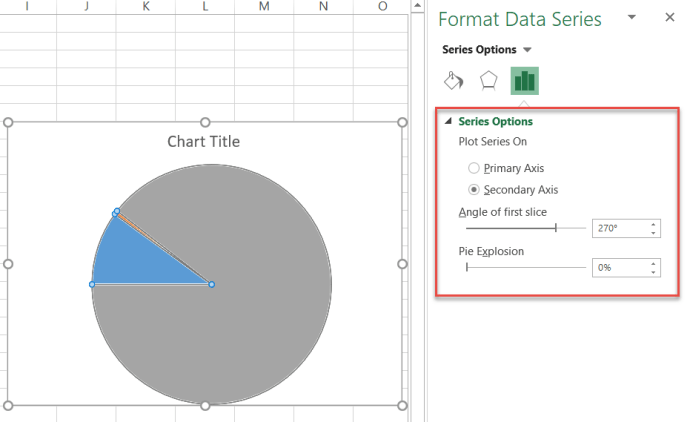 Align the pie chart with the doughnut chart