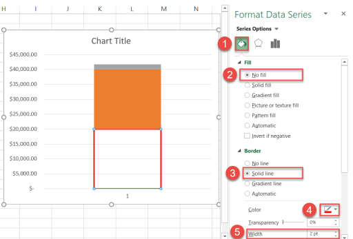 Coloring data markers in Excel