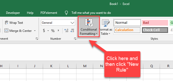 conditional format location