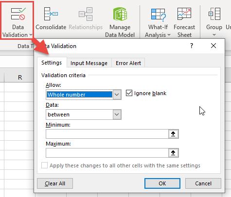 data validation numbers