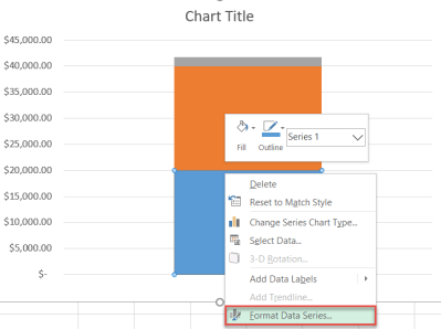 How to color data markers in Excel